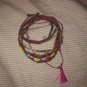 collection of Primark bracelets